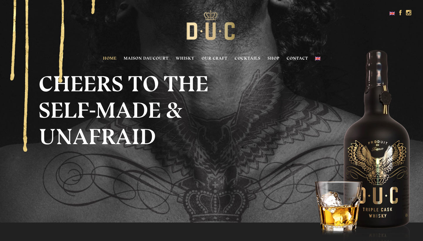 D.U.C Whisky Website | The Brand Collective
