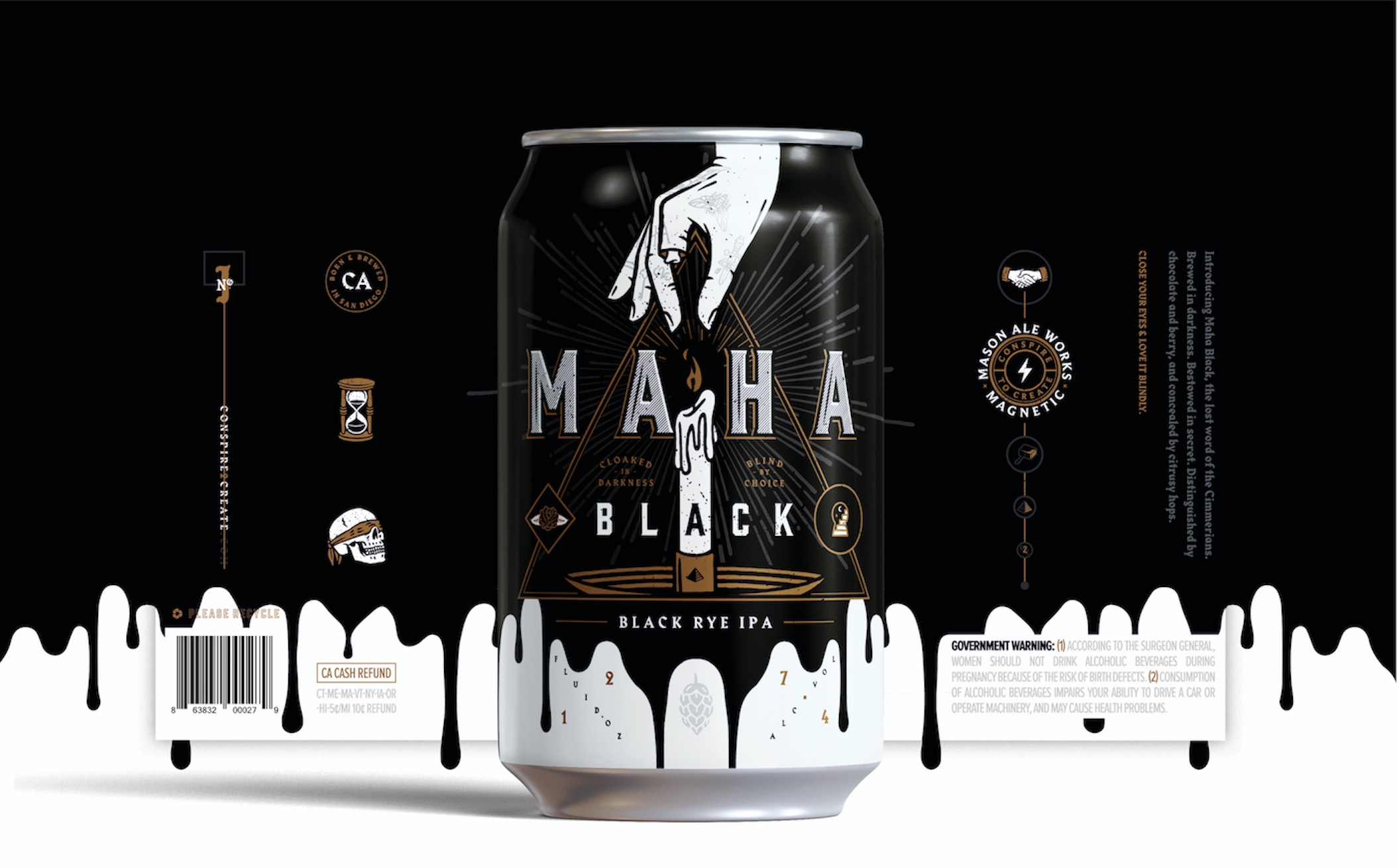 MAHA BLACK - Craft Beer Branding | Muse Awards