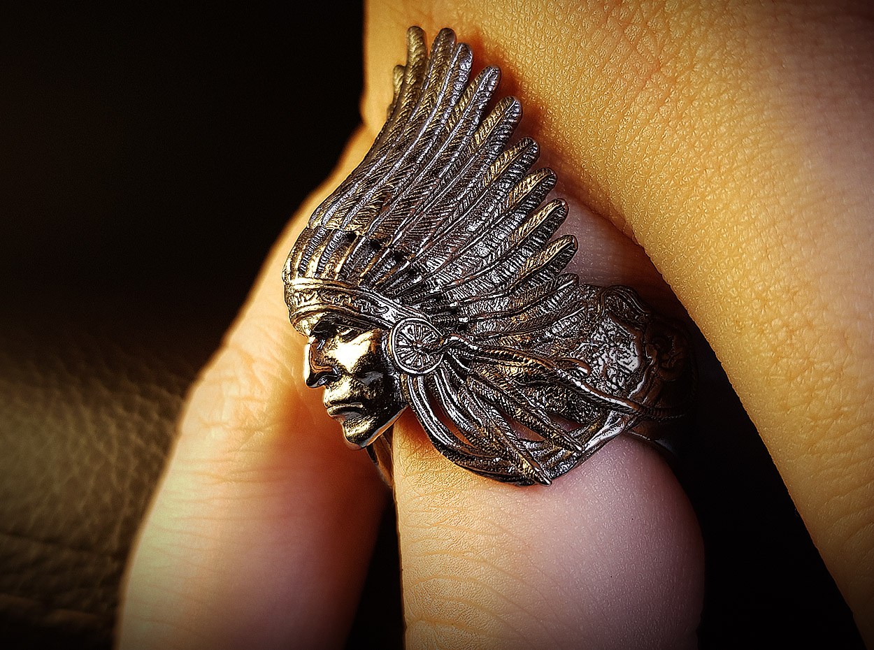 American Red Indian Chief Ring | Muse Awards