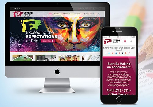 Envision Group Website | Jump Creative | Muse Awards