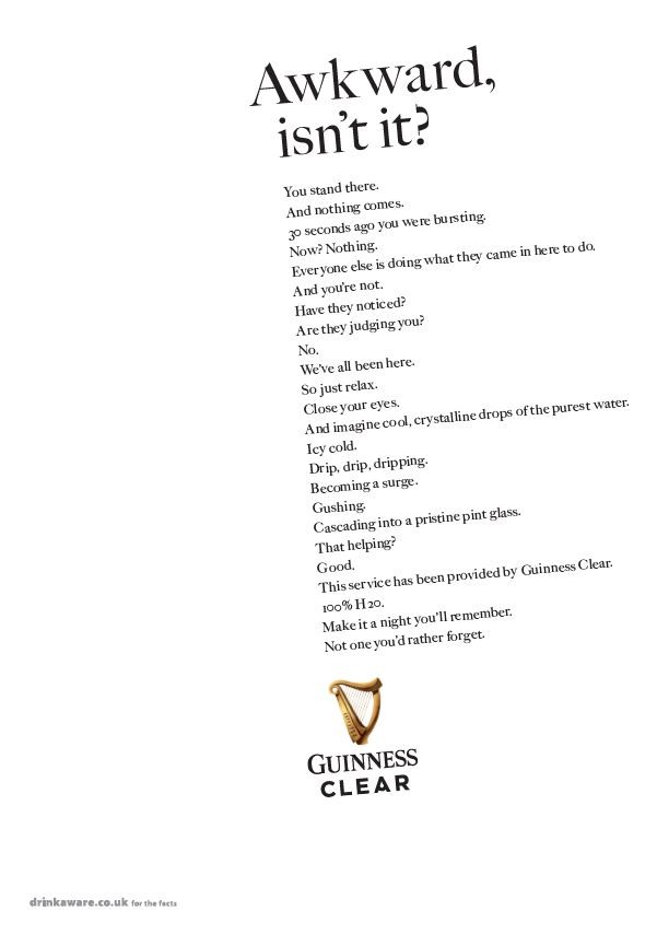 Guinness Clear Campaign