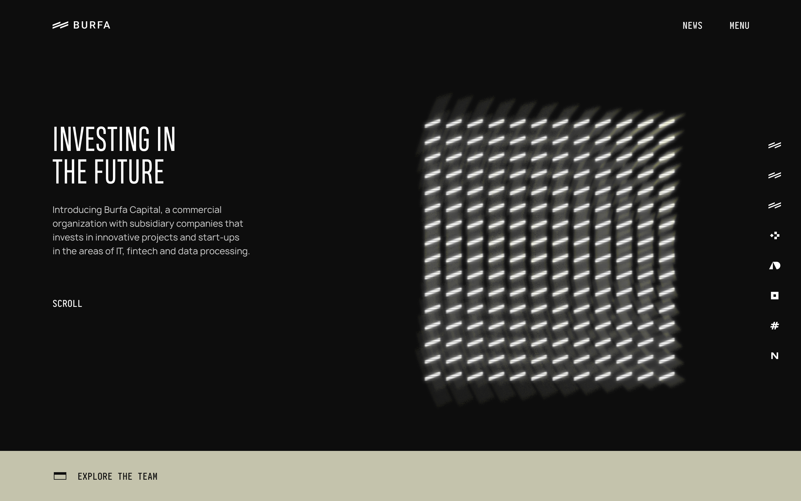 Website for an investment company | MUSE Creative Awards