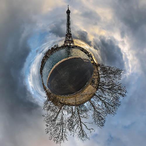 Tiny Planet-sur-Seine